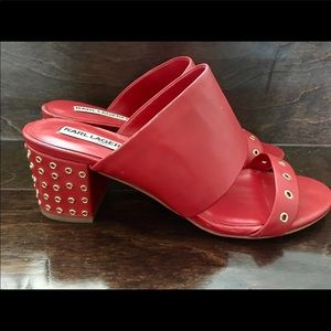 💋💋Karl Lagerfeld Red Leather Sandals